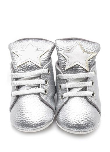 First Step yıldızlı pembe patik Gümüş